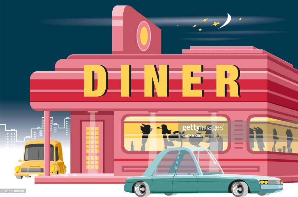Vintage Diner High Res Vector Graphic Getty Images