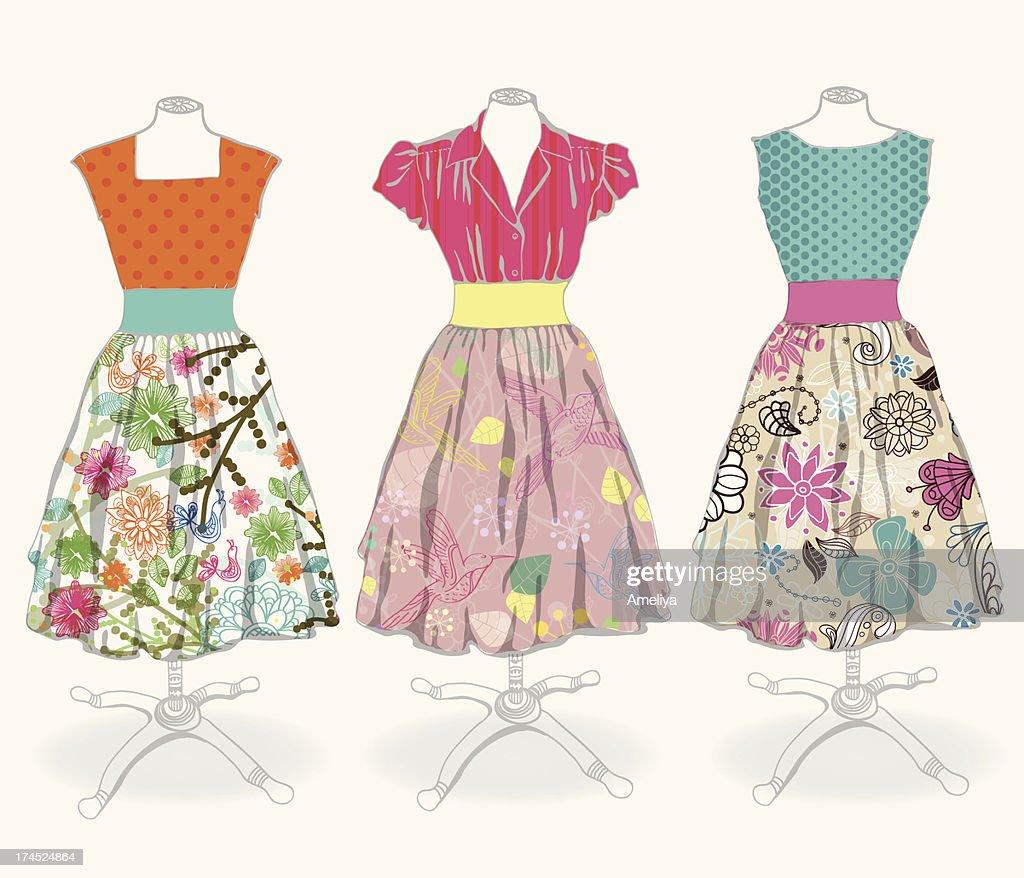 Vintage dress background