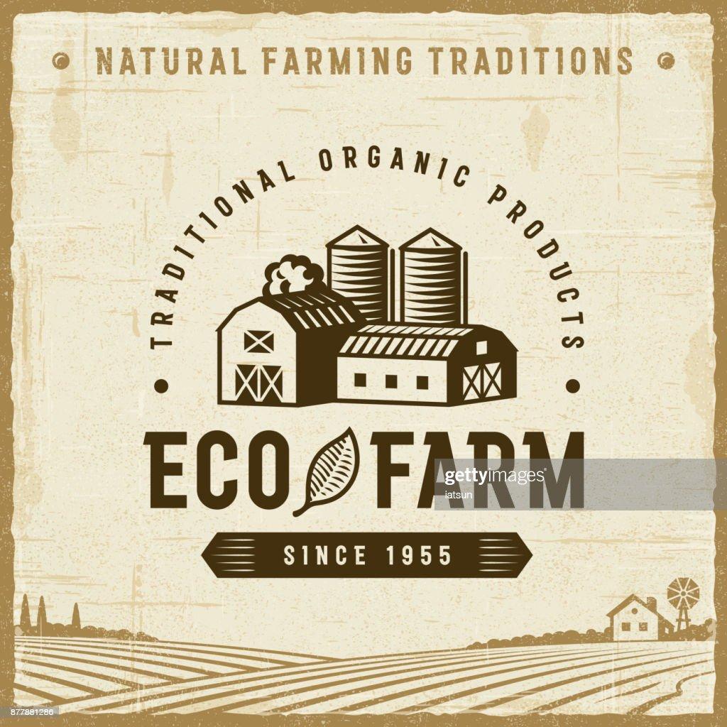 Vintage Eco Farm Label