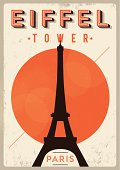 Vintage Eiffel Tower Poster