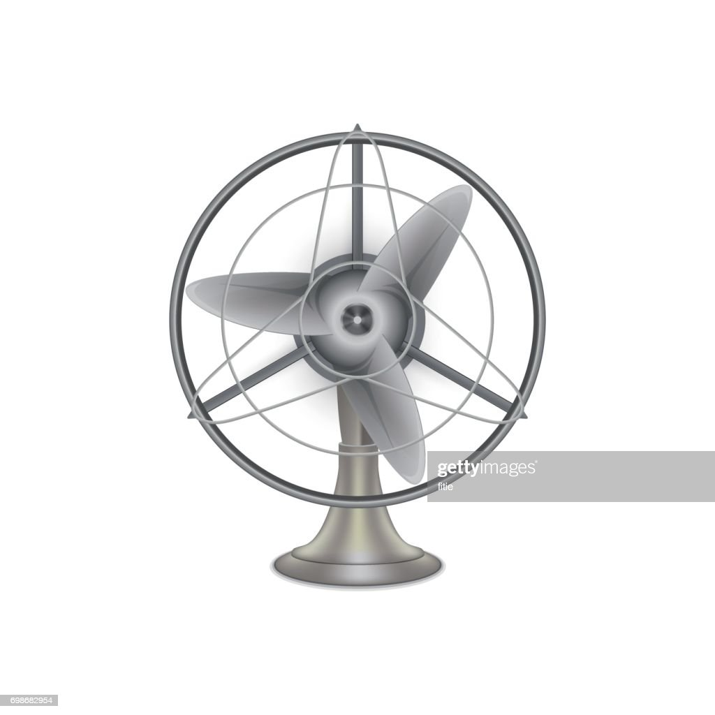 Vintage Electric Fan ,Vector Icon
