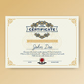 Vintage elegant certificate of achievement