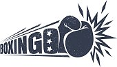 Vintage emblem for boxing.