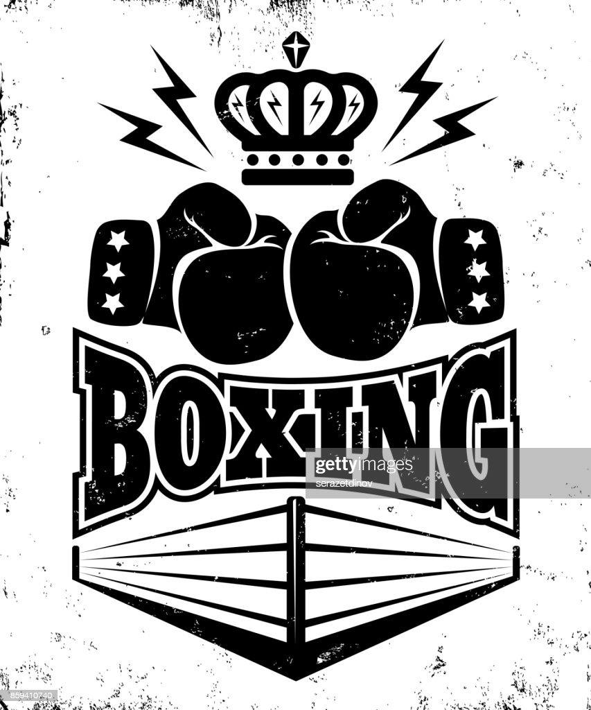 Vintage emblem for boxing.