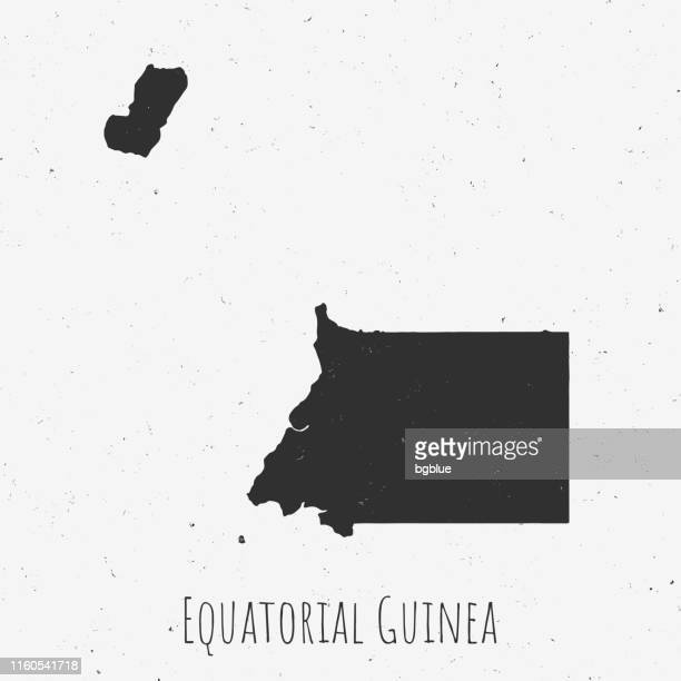 vintage equatorial guinea map with retro style, on dusty white background - equatorial guinea stock illustrations