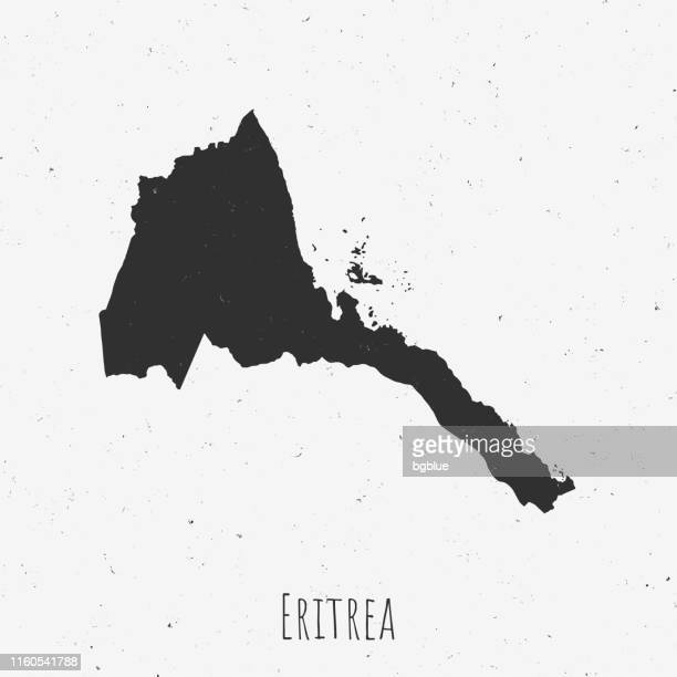 vintage eritrea map with retro style, on dusty white background - eritrea stock illustrations