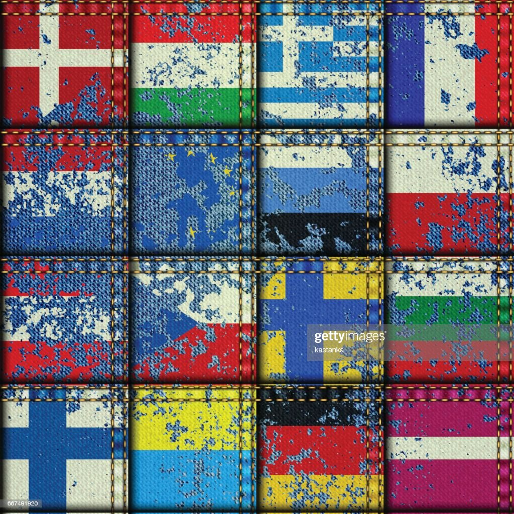 Vintage Europe patchwork pattern