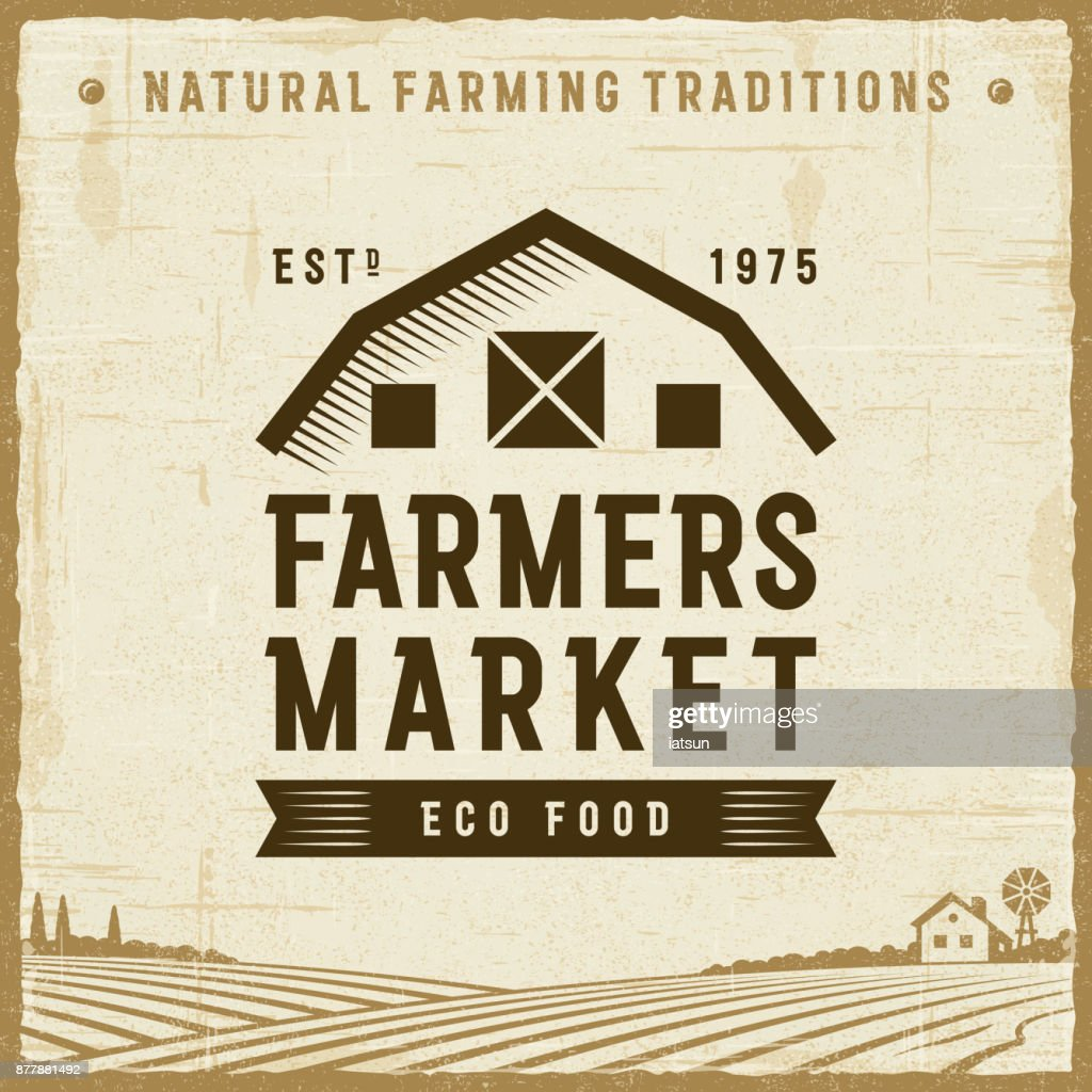 Vintage Farmers Market Label