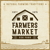 Vintage Farmers Market Label