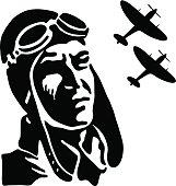 Vintage fighter pilot
