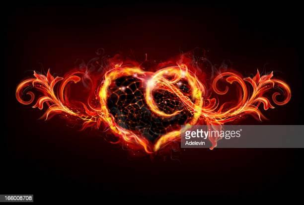Vintage Fire heart
