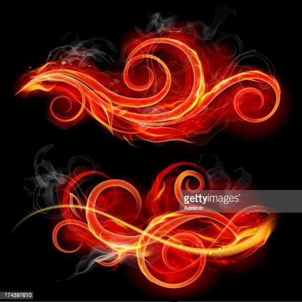 Vintage fire swirls
