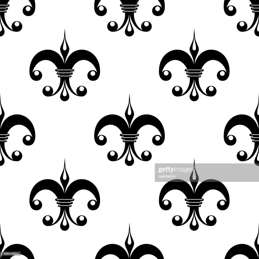 vintage fleur de lys pattern vector art getty images