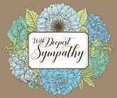 Vintage Floral Card Design Template