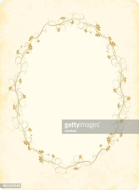 Vintage floral-Karte