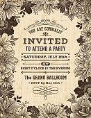 Vintage Floral Frame Invitation