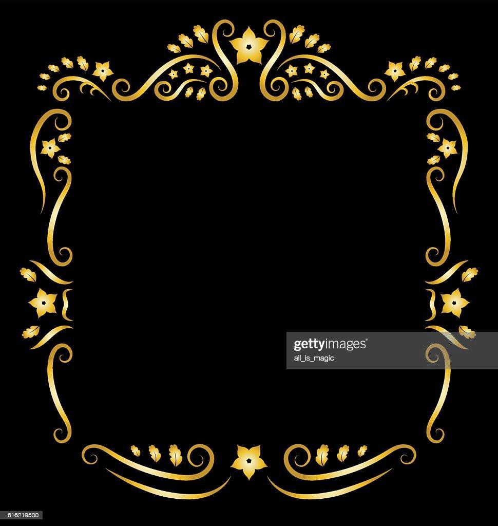 Vintage floral frame ornament. : Vector Art