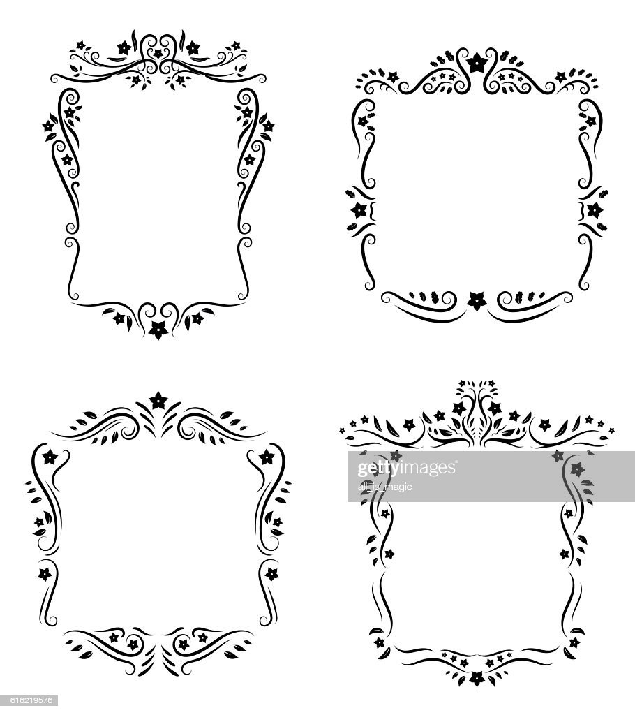 Vintage floral frame ornament. : Vector Art