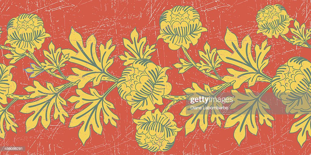 Vintage Floral Pattern - Orchid Color