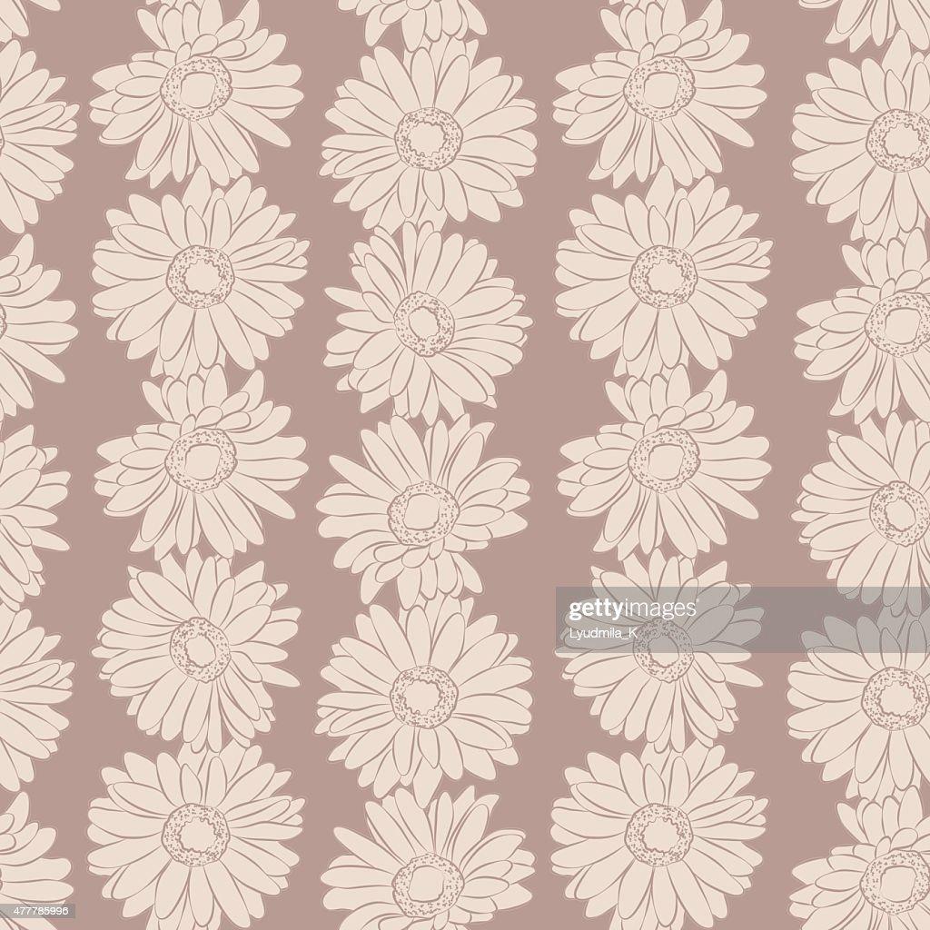 Vintage floral print seamless background.