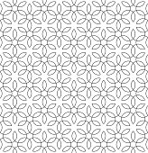 Vintage Flourish Black and White Seamless Pattern