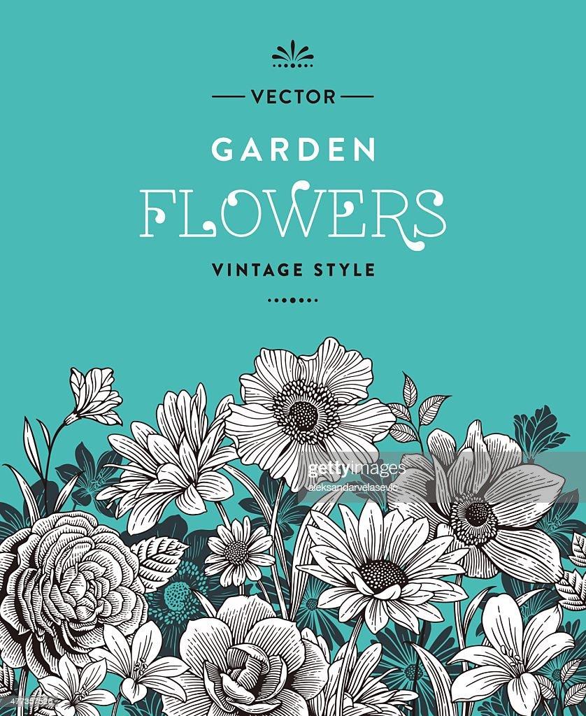 Vintage flores : Ilustração