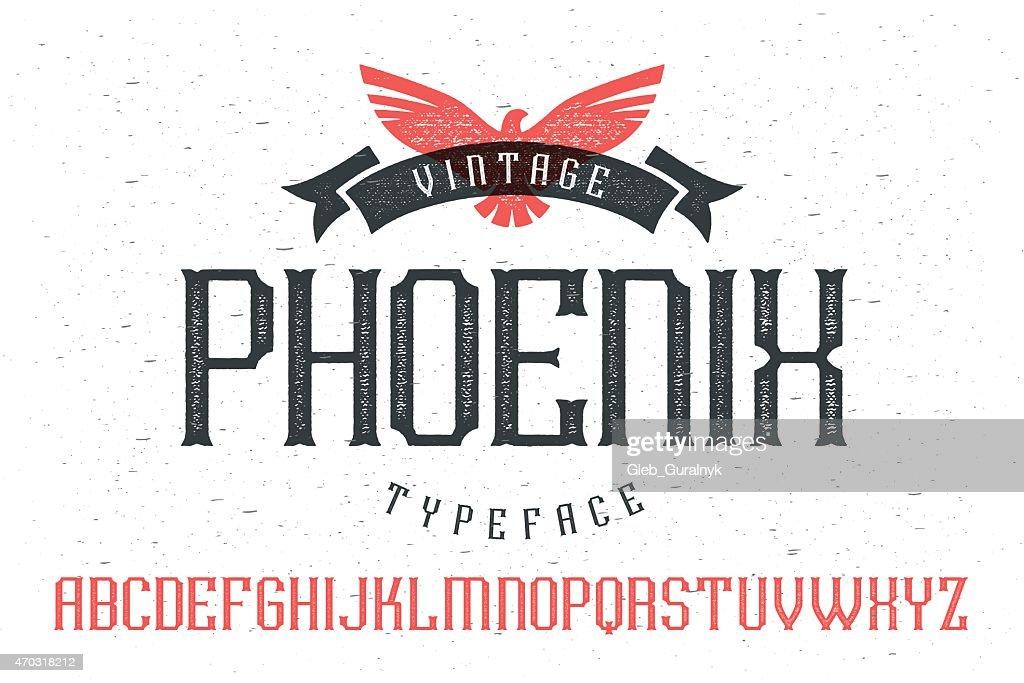 Vintage font 'Phoenix Typeface'