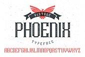 """Vintage font """"Phoenix Typeface"""""""