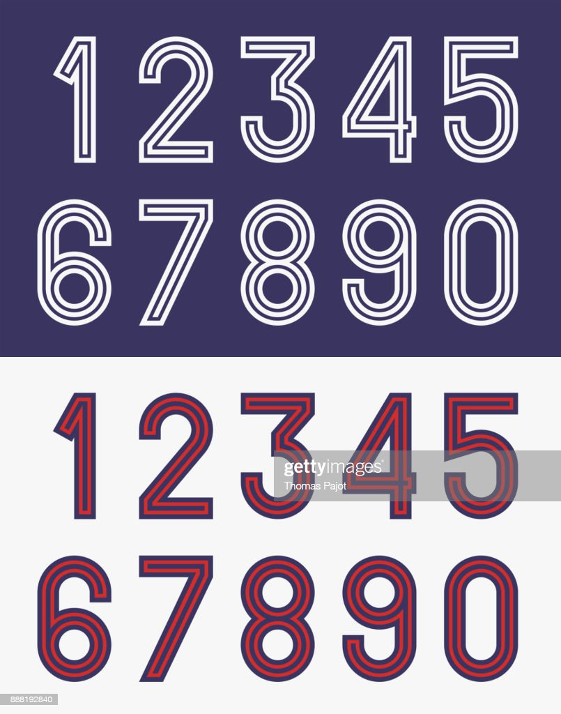 Vintage football jersey numbers
