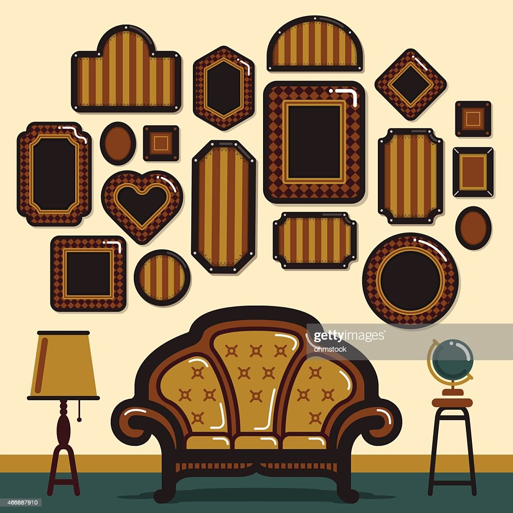 Vintage Frame Chair Background