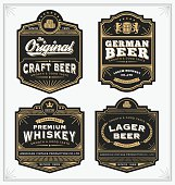 Vintage frame design for labels, banner, sticker