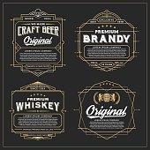 Vintage frame design for labels design