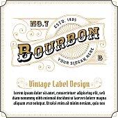 Vintage frame logo design