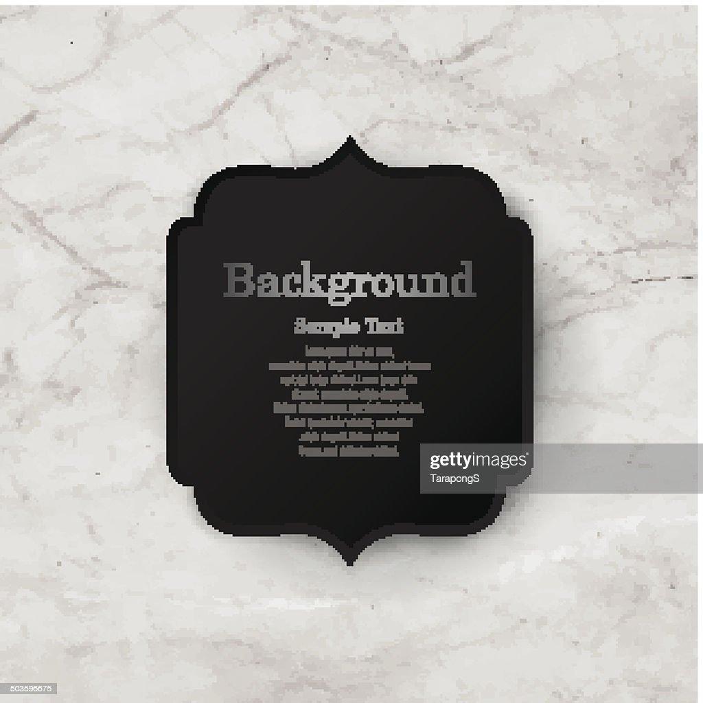 Vintage frame on rock texture background.