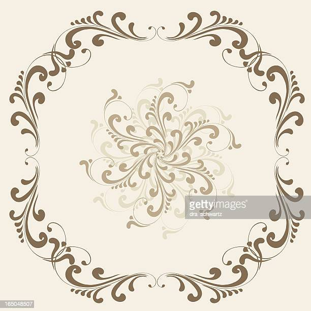 vintage frame , vector - filigree stock illustrations