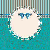vintage frame with bow vector illustration.