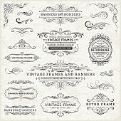 Vintage Frames, Banners and Badges