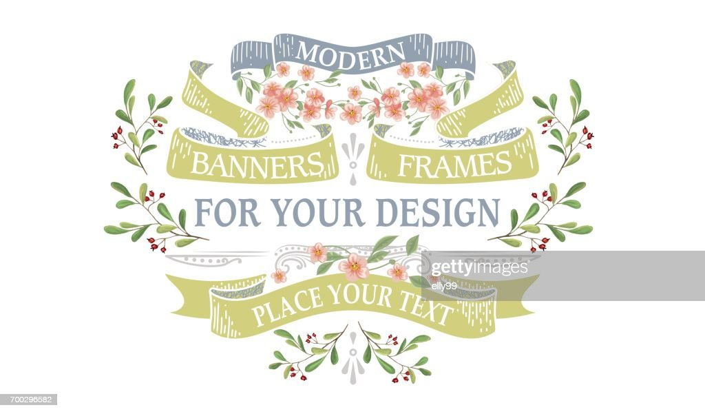 Vintage Frames With Flowers Vector Art | Getty Images