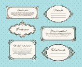 Vintage frames with text