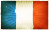Vintage French Flag Poster Background