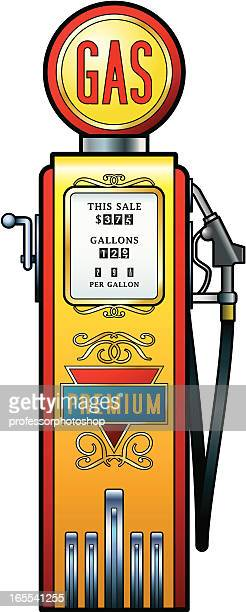 vintage fuel pump - fuel pump stock illustrations, clip art, cartoons, & icons