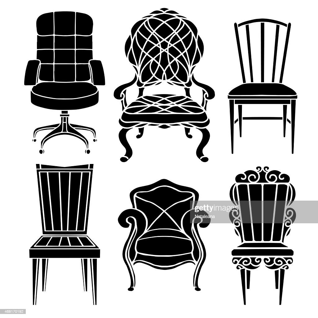 Vintage furniture set, chair, armchair, throne