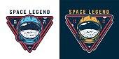 Vintage galaxy colorful label
