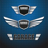 Vintage garage retro label design.vector