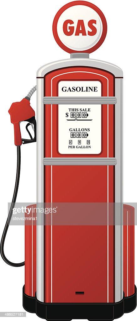Vintage Gas Pump : stock illustration