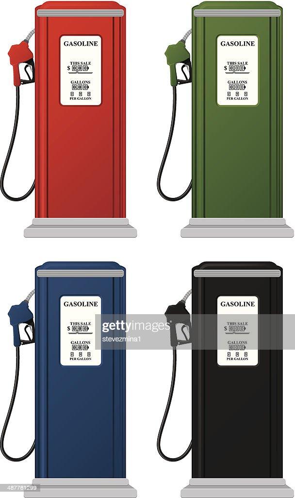 Vintage Gas Pumps stock illustration - Getty Images