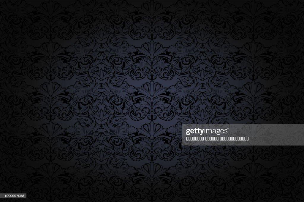 vintage Gothic background in dark grey and black