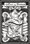 vintage graphic coat of arm for bar or restaurant