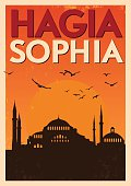 Vintage Hagia Sophia Poster