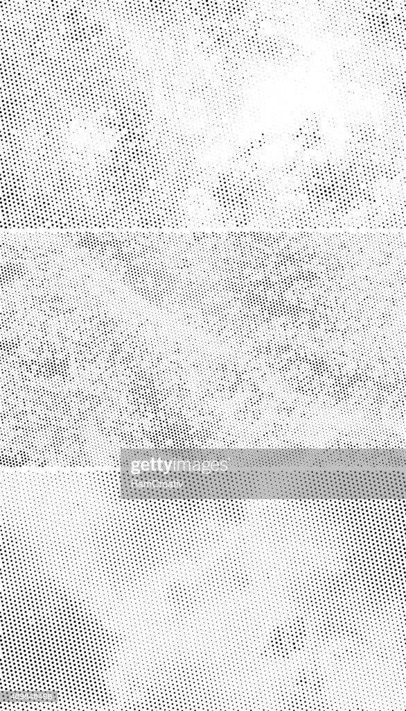 Vintage Halftone Backgrounds, Scattered Black Dots